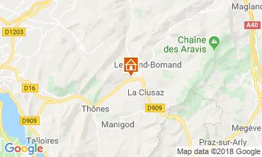 Map La Clusaz Chalet 117139