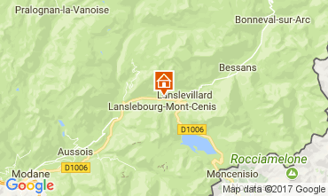 Map Val Cenis Apartment 92268