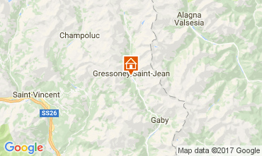 Map Gressoney Saint Jean Studio apartment 110114