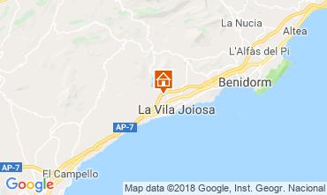 Map Benidorm Villa 97736