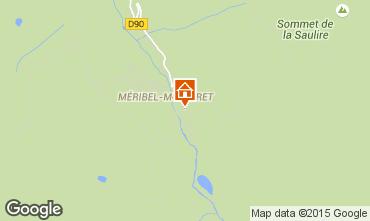 Map Méribel Apartment 68404
