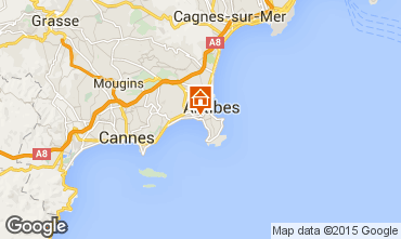 Map Juan les Pins Apartment 78148