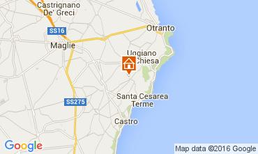 Map Santa Cesarea Terme Apartment 104130