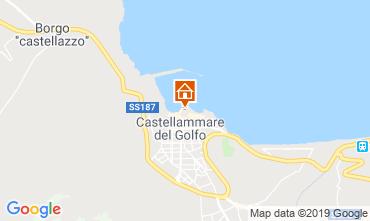 Map Castellammare del Golfo Apartment 80207