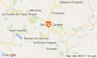 Map Sarlat Self-catering property 108143