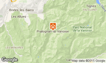 Map Pralognan la Vanoise Apartment 93265
