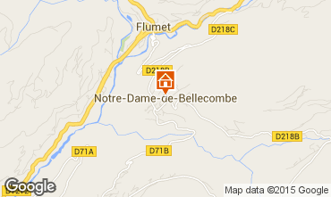 Map Notre Dame de Bellecombe Apartment 97632