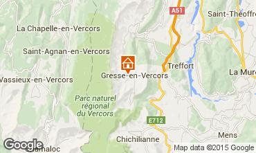 Map Gresse en Vercors Studio apartment 28748