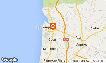 Map Le Touquet Self-catering property 7765