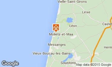 Map Moliets Mobile home 25142
