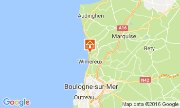 Map Wimereux Apartment 66600