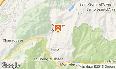 Map Oz en Oisans Apartment 72385