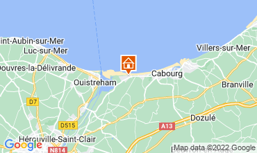 Map Cabourg Apartment 119007