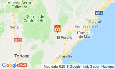 Map La Ametlla de Mar Self-catering property 110680
