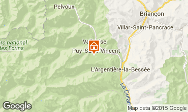 Map Puy Saint Vincent Studio apartment 79720