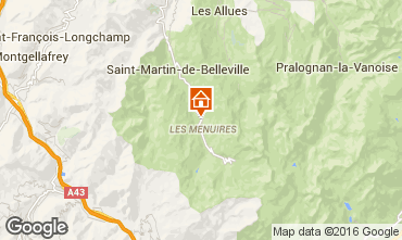 Map Les Menuires Chalet 102203