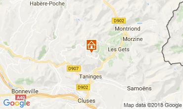 Map Praz de Lys Sommand Apartment 115001