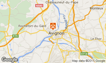 Map Avignon Studio apartment 78730
