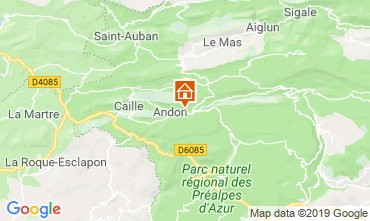 Map Grasse Self-catering property 118775