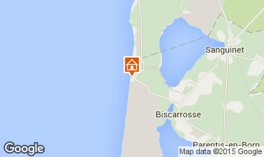 Map Biscarrosse Apartment 19390