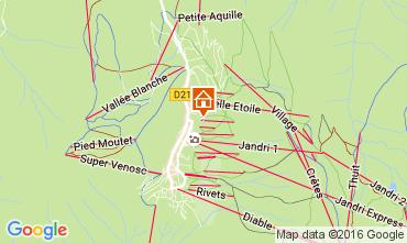 Map Les 2 Alpes Studio apartment 106694