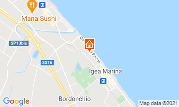 Map Bellaria Igea Marina Apartment 107978