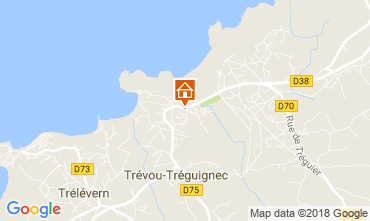 Map Trevou Treguignec Self-catering property 113999