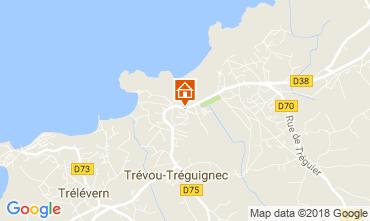 Map Trevou Treguignec Self-catering property 113999