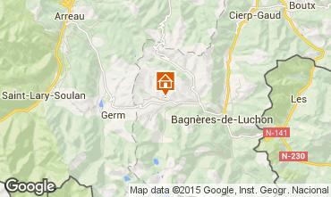 Map Luchon Superbagneres Chalet 57698