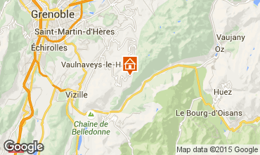 Map Chamrousse Apartment 39422