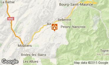 Map La Plagne Chalet 89733