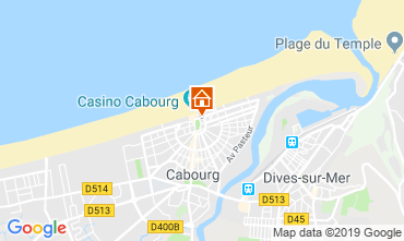 Map Cabourg Apartment 63247