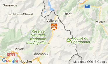 Map Chamonix Mont-Blanc Chalet 706
