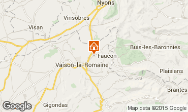 Map Vaison la Romaine Self-catering property 12446