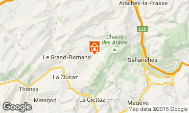 Map Le Grand Bornand Apartment 101025