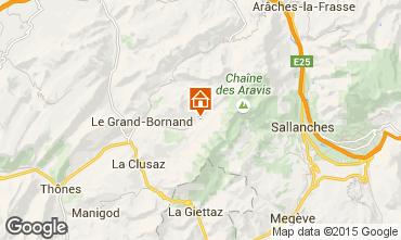 Map Le Grand Bornand Apartment 101025