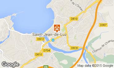 Map Saint Jean de Luz Apartment 40882