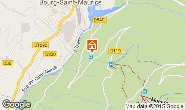 Map Les Arcs Apartment 226
