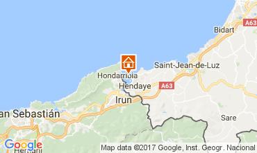 Map Hendaye Apartment 112304