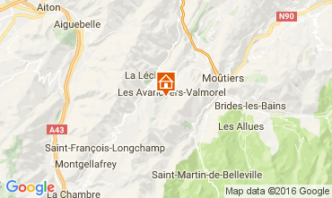 Map Valmorel Apartment 66547