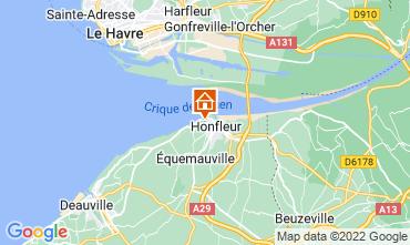 Map Honfleur Studio apartment 115791