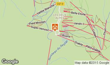 Map Les 2 Alpes Apartment 1167