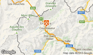 Map Courmayeur Apartment 80476