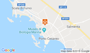 Map Porto Cesareo Apartment 117949