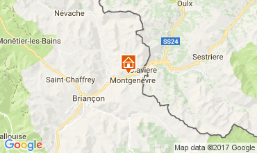 Map Montgenevre Studio apartment 112352