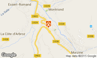 Map Morzine Apartment 82300