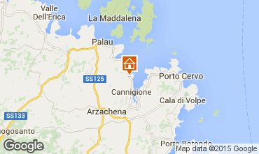 Map Porto Cervo Apartment 75739