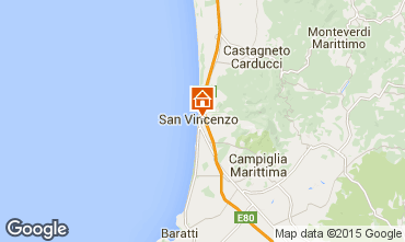 Map San Vincenzo Apartment 92787