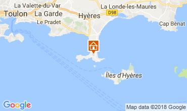 Map Hyères Apartment 115096