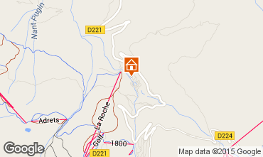 Map La Plagne Chalet 37760